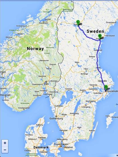 Sundsvall Wandering Soles - Sweden map sundsvall