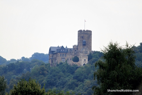 Burg Katz on the River Rhine was built in the Middle Ages and is today a luxury hotel.