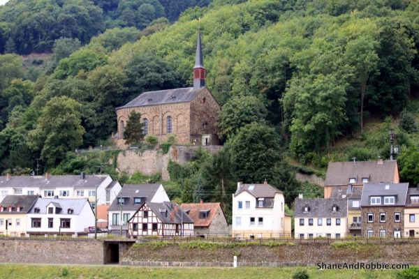Cruising past the little village of Marksburg, just outside of Koblenz.