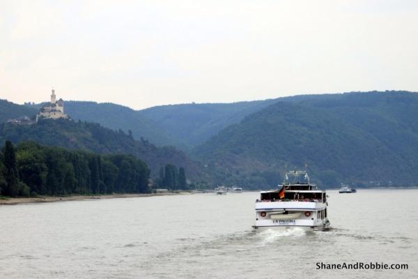 Enjoying a calm day on the River Rhine.