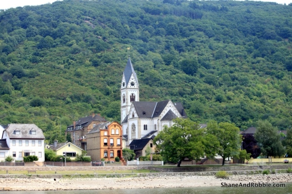 Kamp-Borhofen, one of the cute little villages we passed during our cruise.