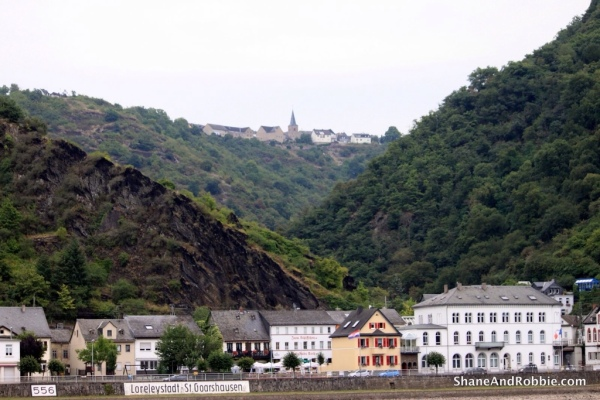 The village of Loreleystadt sits just below the Rock of Loreley, where, legend has it, the nymph Loreley used to sit and sign her bewitching songs, trying to drown fishermen and sailors passing far below.