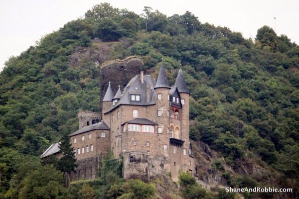 The dark and imposing Shonburg castle.