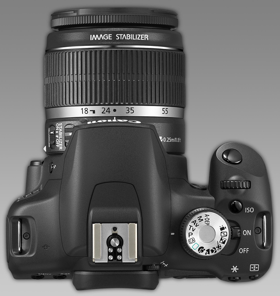 Canon EOS 500d - shown with the stand lens we DIDN'T take...