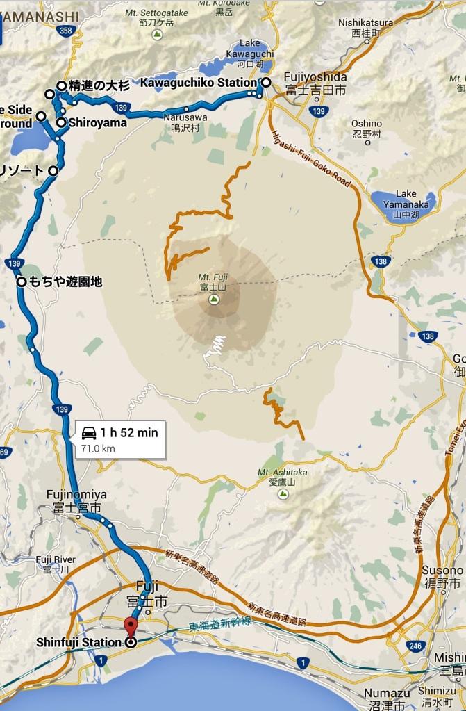 map fuji