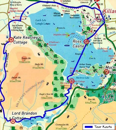 map of toiur